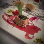 foie gras au grué de cacao et griottine
