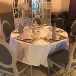 petit salon pour réception privée aux Tisons