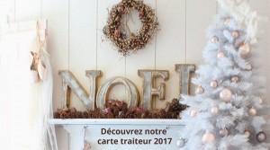 Carte Traiteur fêtes 2017