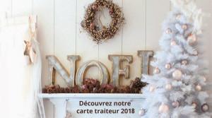 Carte Traiteur fêtes 2018